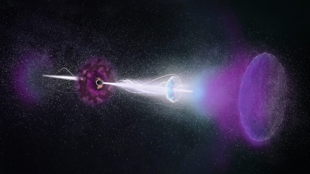 The image shows a Gamma-Ray Burst